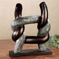 Knotted Element Table Sculpture Dark Bronze