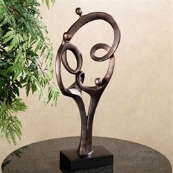 Abstract Family Table Sculpture Bronze