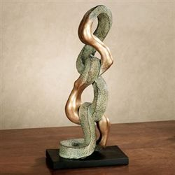 Body in Motion Table Sculpture Gold Verdi