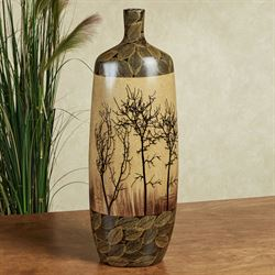 Bare Trees Ceramic Floor Vase