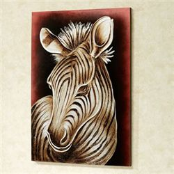 Striped Innocence Zebra Canvas Art Silver with Gold