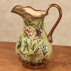 Floral Bliss Pitcher Vase Celadon