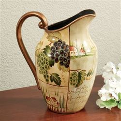 Villas of Tuscany Pitcher Vase Light Cream
