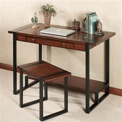 Xander Desk and Bench Set Autumn Cherry
