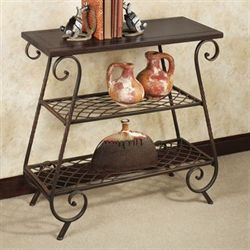 Mannett 3 Tier Floor Shelf Dark Bronze