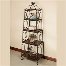 Walker 4 Tier Accent Shelf Regal Walnut