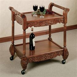 Victoriana Serving Cart Natural Cherry