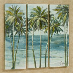 Tropical Getaway Triptych Canvas Wall Art Multi Cool Set of Three