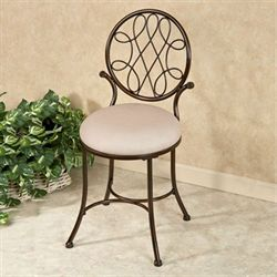 Bedelia Vanity Chair Burnished Bronze