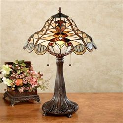 Jeweled Stained Glass Table Lamp Multi Jewel Each with CFL Bulbs