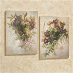 Fruit Bouquet Wall Art Multi Warm Set of Two