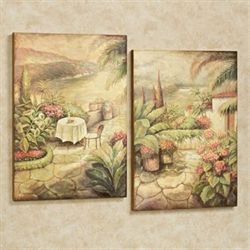 Scenic View Wall Art Multi Warm Set of Two