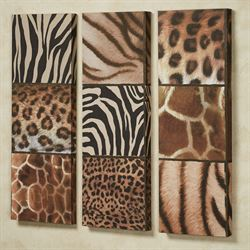Exotic Patterns Canvas Art Multi Warm Set of Three
