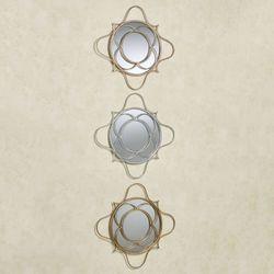Brawley Mirrored Wall Art Multi Metallic Set of Three