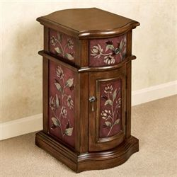 Sophie Chairside Cabinet Burgundy