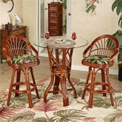 Leikela Bar Table with Two Stools Wailea Coast Set of Three