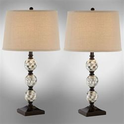 Abalone Orbs Table Lamp Pair Multi Earth