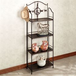 Laredo 4 Tier Etagere Dark Bronze 4 Tier
