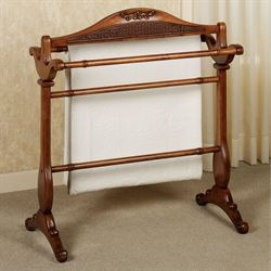 Belhurst Blanket Rack Natural Cherry