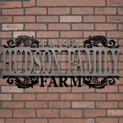 Legacy FARM Personalized Metal Wall Art Sign Farm