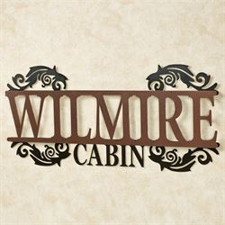 Legacy CABIN Personalized Metal Wall Art Sign Cabin