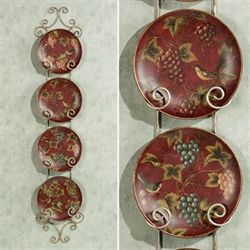 Fruits of the Season Plate Set  Set of Four