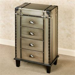 Thaddcus Storage Cabinet Antique Silver