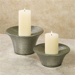 Transa Candleholders Nickel Set of Two