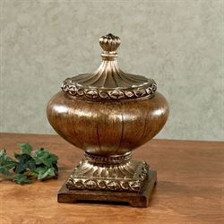 Jyneva Decorative Covered Bowl Bronze