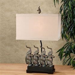 Eminent Elephants Table Lamp Bronze