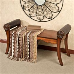 Free shipping on home bargains touch of class adrian bench regal walnut gumiabroncs Image collections