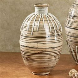 Tut Bamboo Vase Small Multi Earth
