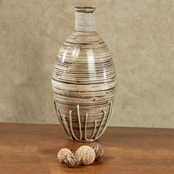 Tut Bamboo Vase Large Multi Earth
