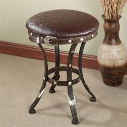 Laredo Upholstered Stool Dark Bronze