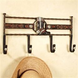 Laredo Wall Hook Rack Dark Bronze