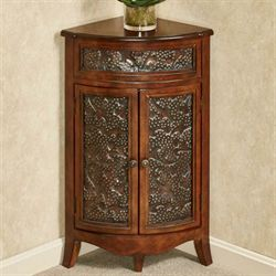 Lombardy Corner Accent Cabinet English Walnut
