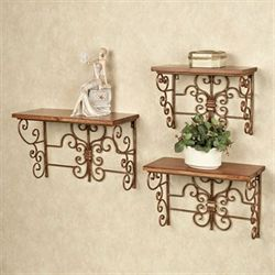 Soria Wall Shelf Set Bronze Set of Three
