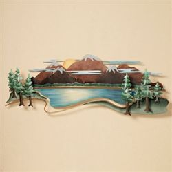 Moutain View Wall Sculpture Multi Earth