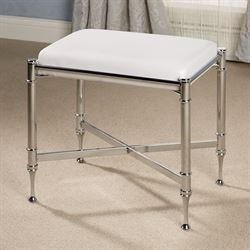 Estate Vanity Bench Chrome/White