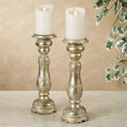 Eulalic Candleholders Platinum Pair