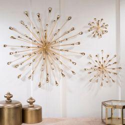 Jelena Starburst Wall Art Gold