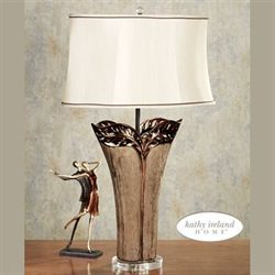 Tropical Elegance Table Lamp Parchment
