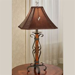 Lone Star Table Lamp Brown