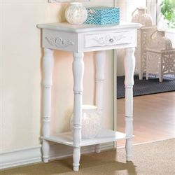Cosenza Antique White Accent Table