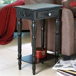 Cosenza Black Accent Table