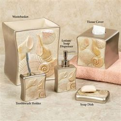 Sea Shell Lotion Soap Dispenser Champagne