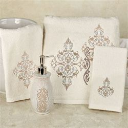 Galileo Bath Towel Set Ivory Bath Hand Fingertip