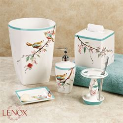 'Lenox Chirp Lotion Soap Dispenser White' from the web at 'https://www.touchofclass.com/images/ml/C737-001.jpg'