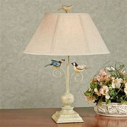 Bird Table Lamp Ivory