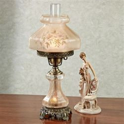 Brynleigh Glass Table Lamp Beige